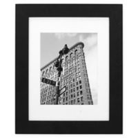 Malden Gallery 8-Inch x 10-Inch Matted Wood Photo Frame in Black