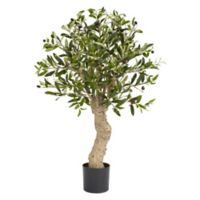 Nearly Natural 2.5-Foot Artificial Olive Tree in Planter
