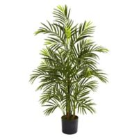Nearly Natural 3.5-Foot Artificial UV-Resistant Areca Palm Tree in Planter