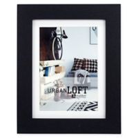 Malden® Urban Loft 5-Inch x 7-Inch Matted Wood Photo Frame in Black