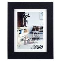 Malden® Urban Loft 5-Inch x 7-Inch Matted Wood Photo Frame in Black