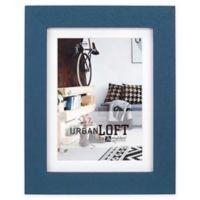 Malden® Urban Loft 5-Inch x 7-Inch Matted Wood Photo Frame in Blue