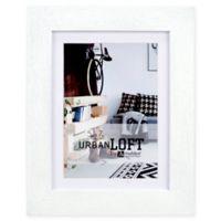 Malden® Urban Loft 5-Inch x 7-Inch Matted Wood Photo Frame in White