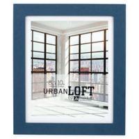 Malden® Urban Loft 8-Inch x 10-Inch Matted Wood Photo Frame in Blue