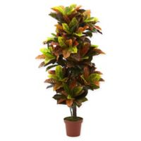 Nearly Natural Real Touch 4.5-Foot Artificial Croton Plant