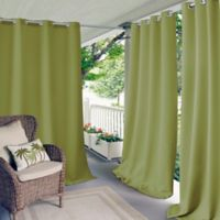 Elrene Aiden Connor 108-Inch Grommet Indoor/Outdoor Window Curtain Panel in Lime