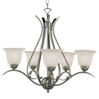 Bel Air Lighting Aspen 5-Light Chandelier in Brushed Nickel