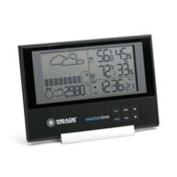 Meade® Instruments Slim Line Personal Weather Station with Atomic Clock in Black/Silver
