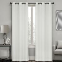 Sydney Jacquard 63-Inch Grommet Window Curtain Panel Pair in White