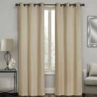 Sydney Jacquard 108-Inch Grommet Window Curtain Panel Pair in Linen