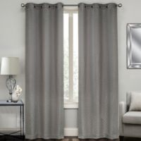 Sydney Jacquard 108-Inch Grommet Window Curtain Panel Pair in Steel
