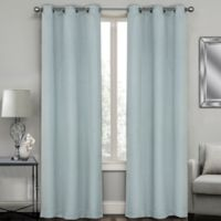 Sydney Jacquard 108-Inch Grommet Window Curtain Panel Pair in Spa