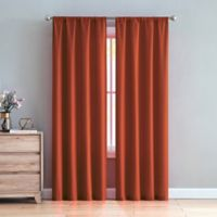 VCNY Chambray 84-Inch Rod Pocket Window Curtain Panel Pair in Red