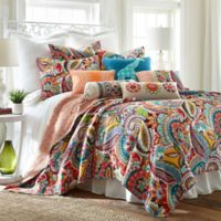 Levtex Home Sakari Reversible Full/Queen Quilt Set in White/Red