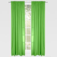 Solid Microfiber 84-Inch Rod Pocket Window Curtain Panel in Green