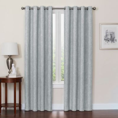 Quinn 108 Inch Grommet Top 100 Blackout Window Curtain Panel In Spa
