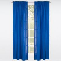 Solid Microfiber 84-Inch Rod Pocket Window Curtain Panel in Blue