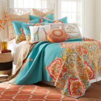 Levtex Home Kamsa Reversible Twin Quilt Set in Teal/Red