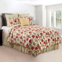 Nina Reversible Twin Quilt in Pink