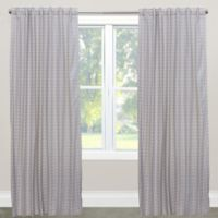Skyline Furniture Cross Section 63-Inch Rod Pocket/Back Tab Window Curtain Panel in Grey