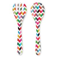 French Bull® Ziggy Multicolor Chevron Salad Servers (Set of 2)
