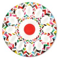 French Bull® Ziggy Multicolor Chevron Egg Platter
