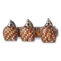 ELK Lighting Mosaic Glass Vanity Light Fixture with Satin Nickel Finishes
