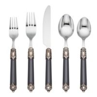 Cambridge® Silversmiths Neapolitan 20-Piece Flatware Set in Graphite