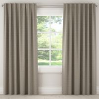 Skyline Furniture Diego 120-Inch Rod Pocket/Back Tab Window Curtain Panel in Grey