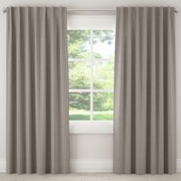 Skyline Furniture Scout Stripe 96-Inch Rod Pocket/Back Tab Window Curtain Panel in Grey