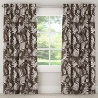 Skyline Furniture Fern 63-Inch Rod Pocket/Back Tab Window Curtain Panel in Brown