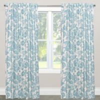 Skyline Furniture Canary 108-Inch Rod Pocket/Back Tab Window Curtain Panel in Blue