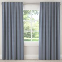 Skyline Furniture Broken Twill 63-Inch Rod Pocket/Back Tab Window Curtain Panel in Navy