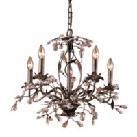 ELK Lighting 5-Light Chandelier in Rust