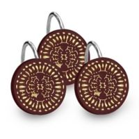 Popular Bath Cascade Shower Curtain Hooks in Burgundy (Set of 12)