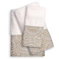 Popular Bath Cascade 3-Piece Bath Towel Set in Beige