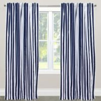 Skyline Furniture Canopy Stripe 96-Inch Rod Pocket/Back Tab Window Curtain Panel in Blue