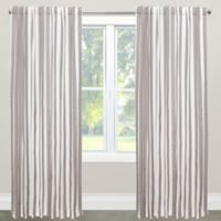 Skyline Furniture Canopy Stripe 63-Inch Rod Pocket/Back Tab Window Curtain Panel in Grey