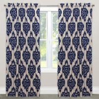 Diamond 96-Inch Rod Pocket/Back Tab Window Curtain Panel in Blue