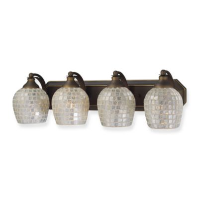 Elk Bathroom Lighting Fixtures buy elk lighting mosaic glass vanity from bed bath & beyond