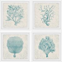 Marmont Hill Coral Group 64-Inch Square Framed Quadriptych Wall Art