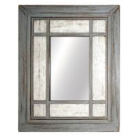 Two-Tone 24.75-Inch x 30.5-Inch Wooden Mirror in Grey