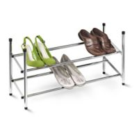 Honey-Can-Do® 2-Tier Expandable Shoe Rack in Chrome
