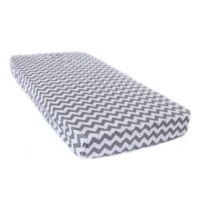 Bambella Designs Chevron Fitted Crib Sheet in Grey