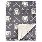 Hudson Baby® Mink Hedgehog Baby Blanket in Grey