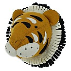 Fiona Walker Mini Fi Tiger Head 10-Inch Round Plush Wall Décor