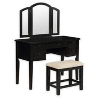 Powell 3-Piece Vanity Set in Antique Black