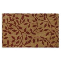 "Achim Leaves 18"" x 30"" Multicolor Coir Door Mat"