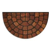 "Achim Stone Slice 18"" x 30"" Raised Rubber Door Mat in Beige Multi"