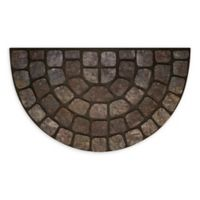 "Achim Stone Slice 18"" x 30"" Raised Rubber Door Mat in Grey Multi"